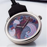 全球只有一對!HERMÈS Arceau琺瑯彩繪懷錶