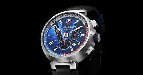 海洋化身 路易威登Tambour Blue計時錶