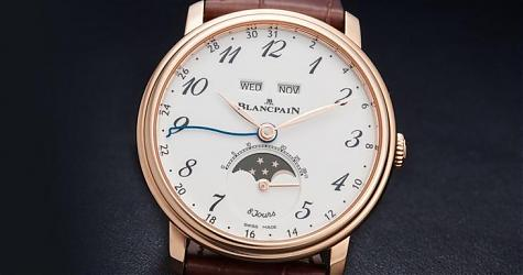 經典並非一日造就 寶珀Villeret 8日鍊全日曆月相錶