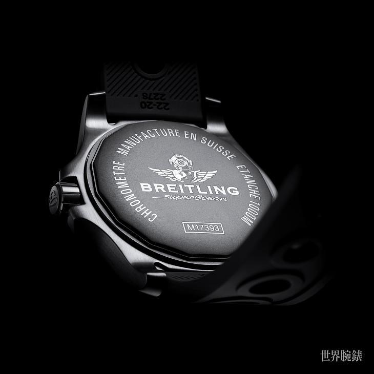 深海硬派美学 百年灵超级海洋44黑钢表