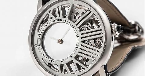 沒有最神祕 只有更神祕 卡地亞神祕小時鏤空腕錶