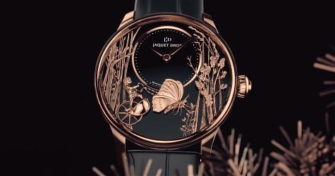 森機愛戀 JD愛之蝴蝶紅金自動玩偶錶