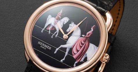 全球唯一的琺瑯手筆 愛馬仕Arceau Amazone