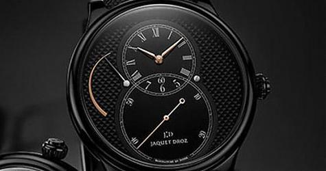 立體派視覺新衝擊 雅克德羅 大秒針系列陶瓷巴黎釘紋腕錶