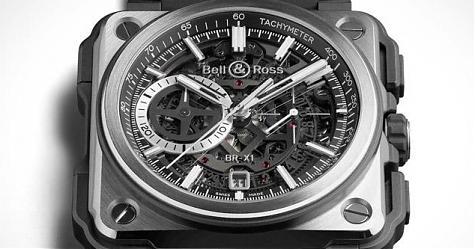 材質組合出新招 柏萊士BR-X1 Black Titanium腕錶