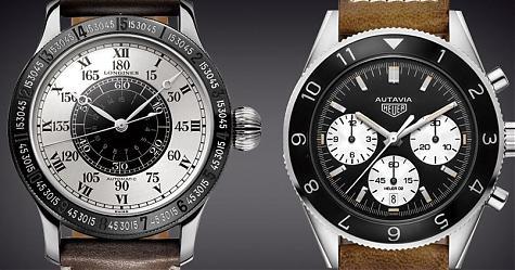 15萬復刻運動錶 浪琴林白紀念錶 vs 泰格豪雅Autavia