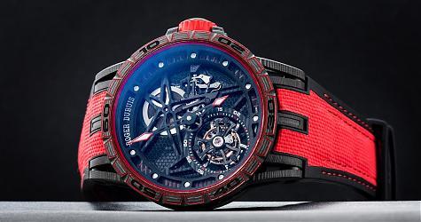 賞錶-邁入碳纖維時代 羅杰杜彼Excalibur Spider Carbon腕錶