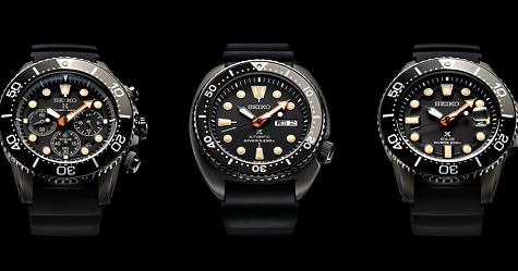 黑得讓人心癢難耐 SEIKO Black Series Prospex潛水錶