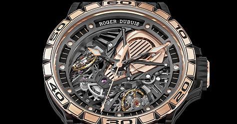 限量超跑哪有道理不愛 羅杰杜彼Excalibur Aventador S玫瑰金腕錶