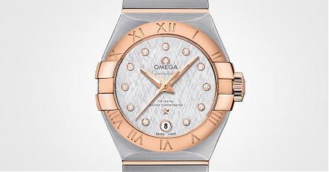 纖細面盤下的強悍性能 歐米茄絲綢面盤設計星座系列大師天文台腕錶