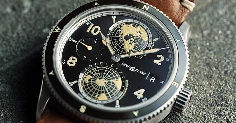 看它可以盡量靠近一點 萬寶龍1858世界時間Geosphere腕錶