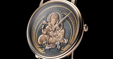 台灣終於看得到實錶了 BLANCPAIN藝術大師系列象神腕錶