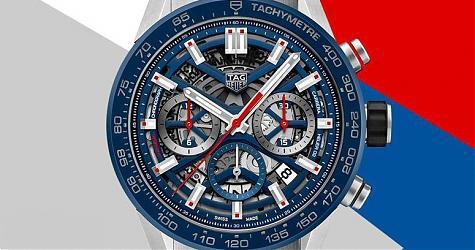 卡萊拉系列第一次搭這枚機芯 TAG HEUER Carrera Calibre Heuer 02腕錶