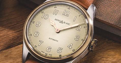 清爽的復古味 萬寶龍1858自動腕錶