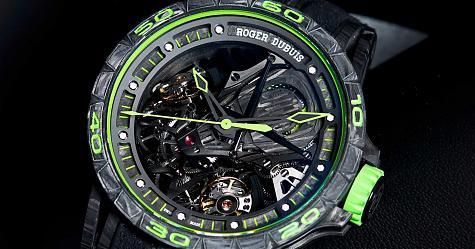 從賽車科技中找靈感 羅杰杜彼Excalibur Aventador S腕錶