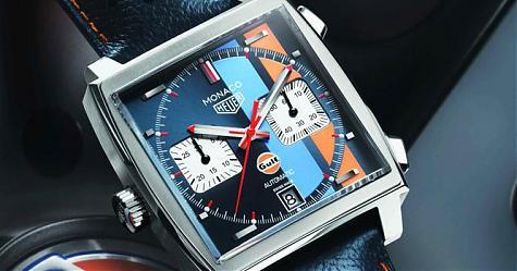 彷彿經典賽車電影重現 泰格豪雅Monaco GULF特別版腕錶
