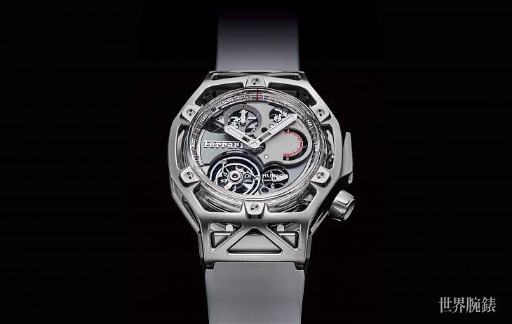 白金藍寶石腕際超跑 宇舶Techframe法拉利錶