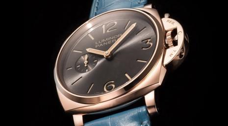 貴金屬錶殼加鏤空手上鍊機芯 沛納海677有正裝錶的氣質