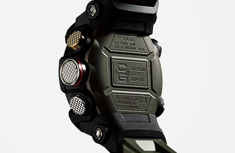轻量化保护性也强的碳纤维表壳 CASIO G-Shock Mu