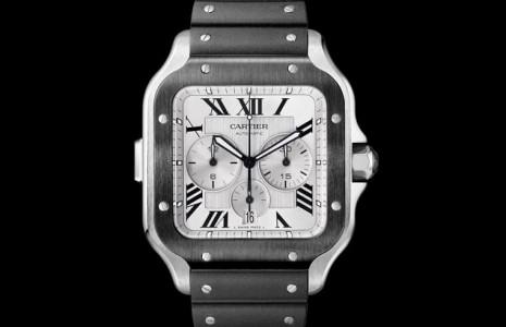卡地亞的百年經典飛行錶Santos de Cartier今年改款計時功能