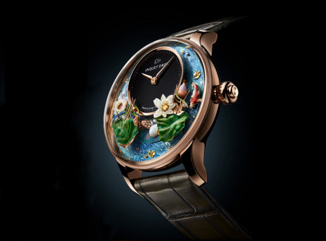 面盤動偶裝置一啟動可達四分鐘 雅克德羅全新錦鯉幻蓮手錶