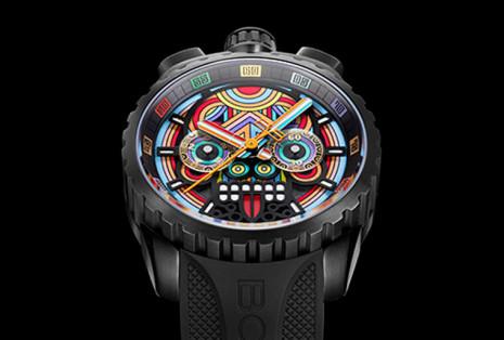 BOMBERG炸彈錶以BOLT-68系列馬雅骷髏計時錶致敬墨西哥文化