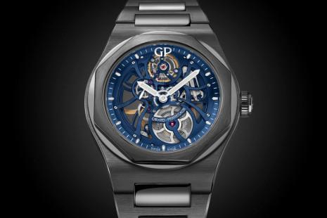 芝柏Laureato桂冠系列採用黑色陶瓷材質打造天際行者鏤空錶