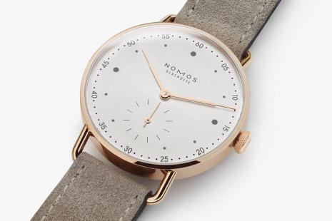 NOMOS Metro玫瑰金手錶縮小錶殼並換上Alpha手上鍊機芯