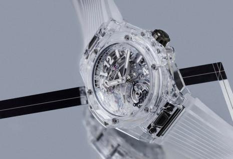宇舶Big Bang藍寶石陀飛輪把手錶提升到又複雜又透明的另一種境界