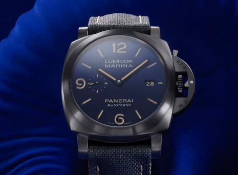 沛納海再度與寶齊萊錶店合作推出Luminor Marina藍色特別版