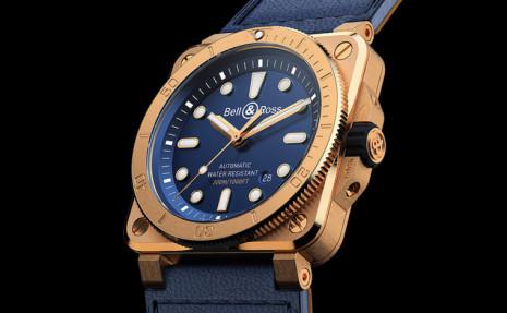 柏萊士BR 03-92青銅潛水錶再度換上海軍藍面盤讓人聯想到水下世界