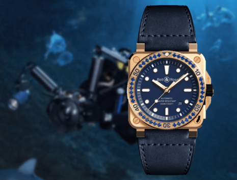 柏萊士BR03-92 Diver Blue青銅錶錶圈鑲藍寶石限量款 台灣寶鴻堂鐘表獨家銷售