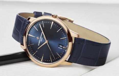 江詩丹頓Patrimony手錶以午夜藍面盤展現極簡美學