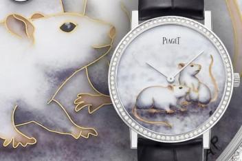 伯爵攜手琺瑯彩繪大師Anita Porchet推出Altiplano鼠年生肖錶