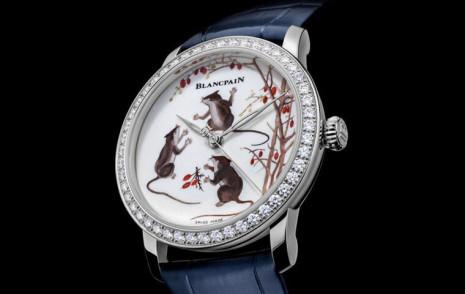 寶珀生肖錶出新招 藝術大師系列鼠年圖案融合了中國傳統古瓷工藝