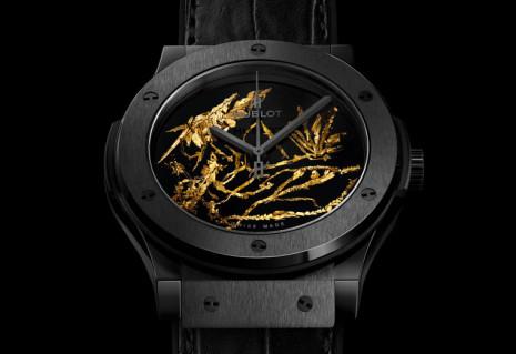 宇舶將黃金結晶放到經典融合系列手錶面盤上