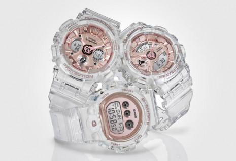 G-SHOCK晶透系列用樹脂材質打造平價版透明錶殼造型