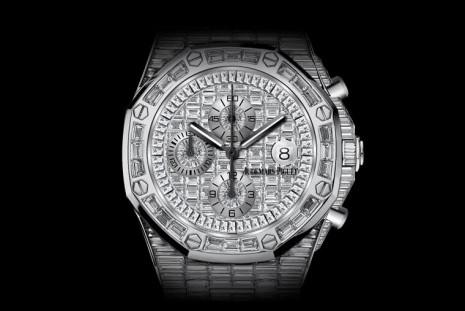 愛彼ROO計時碼錶也有滿天星特別訂製版 白K金錶殼搭滿滿鑽石猶如行走套房