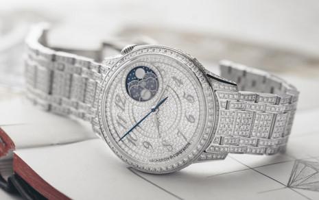 江詩丹頓伊靈月相珠寶錶鑲嵌超過1000顆鑽石  打造手上的滿天星