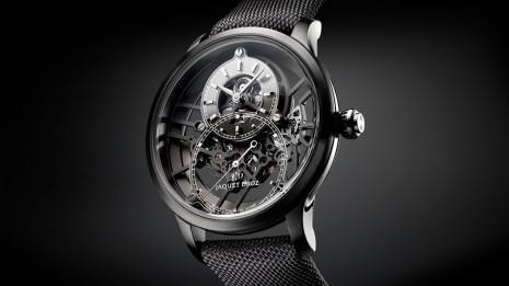 雅克德羅大秒針鏤空One手錶首度採用等離子陶瓷材質製作錶殼