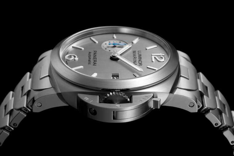 沛纳海Luminor 977拥有品牌少见链带加上系列首见银