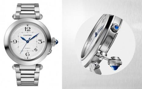 卡地亞Pasha de Cartier系列重新出發  保留錶冠保護裝置另外加入錶帶快拆和透背新設計