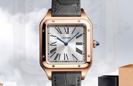 卡地亞推出新款Santos-Dumont XL手上鍊二針錶 有玫瑰金、半金和不鏽鋼三種版本