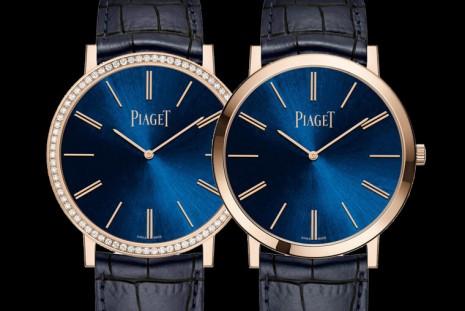 伯爵推出兩款Altiplano藍面盤玫瑰金限量錶