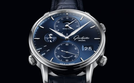 格拉蘇蒂原創不鏽鋼Senator世界時間手錶新增藍面款