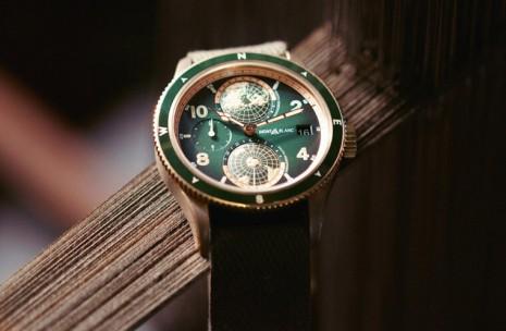 萬寶龍1858系列不只有皮帶款式 還有和法國百年大廠合作的NATO編織錶帶可選
