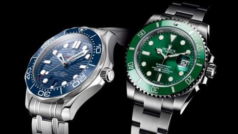 [錶款比較] 鋼殼潛水錶超級明星 歐米茄海馬和勞力士水鬼