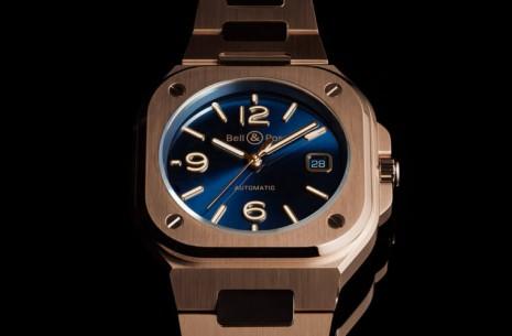 柏萊士玫瑰金BR05新增藍面款式表現優雅氣質