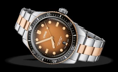 ORIS Divers 65半銅錶帶搭棕色漸層面盤展現懷舊潛水錶風格