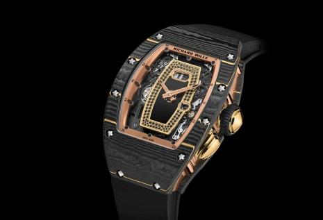 RICHARD MILLE新錶亮點是首度現身的金箔碳纖維材質